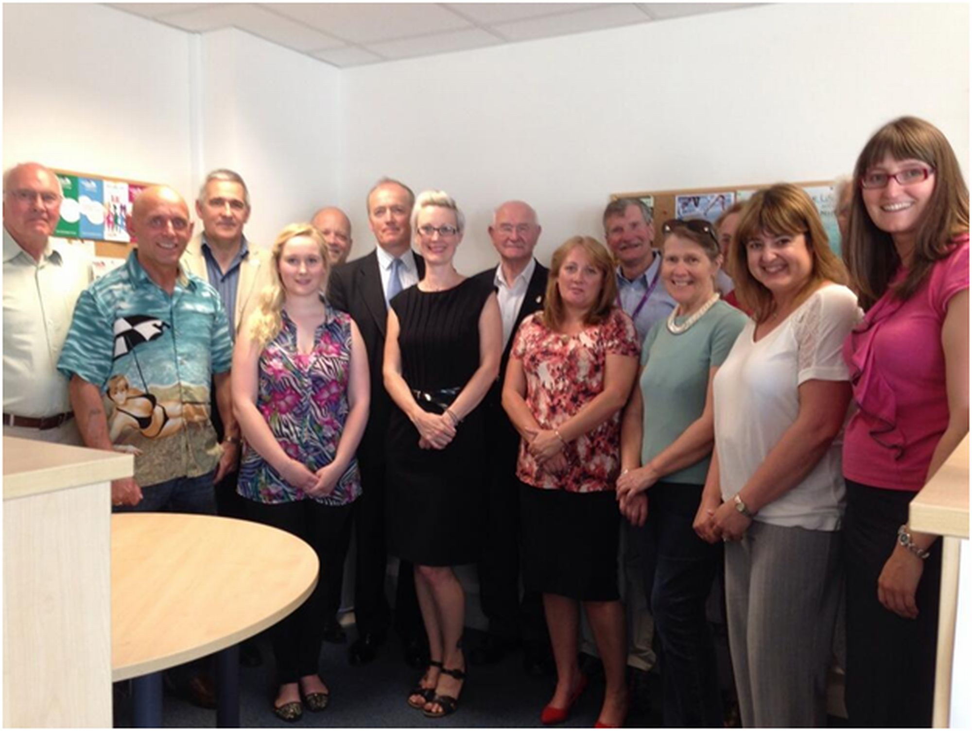 : Victim Support staff and volunteers in Dorset meet the charity's new chief executive Mark Castle during Volunteer Week.