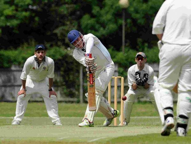 AT THE WICKET: Weymouth's Peter Gordon