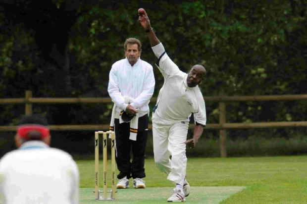 Dorset Echo: SINGLE WICKET SUCCESS: Grafton Straker