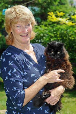 MY FUR LADY: Pepper the cat with owner Anne Bosomworth