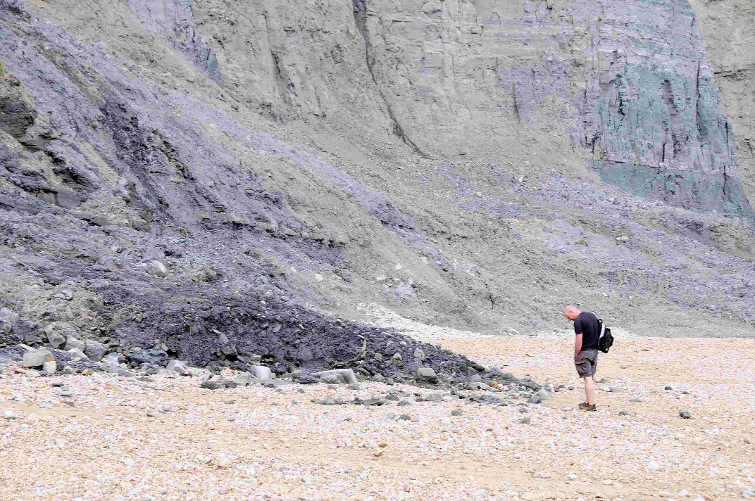 The cliff fall at Cain's Folly, Charmouth Beach