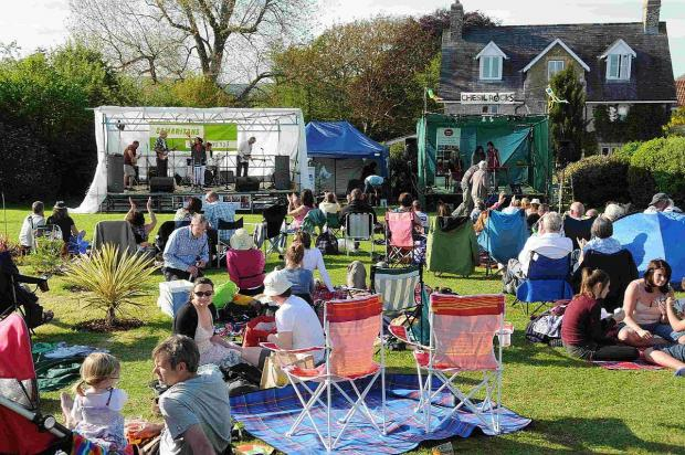 ROCKING OUT: Chesil Rocks music festival