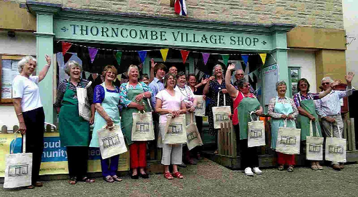 SAVIOURS: Thorncombe villagers who saved their shop from closure