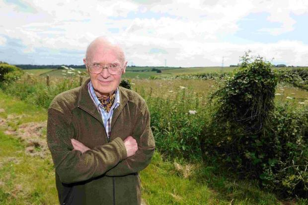 CONCERNED: Villager Richard Lipsett at the Chalky Road site
