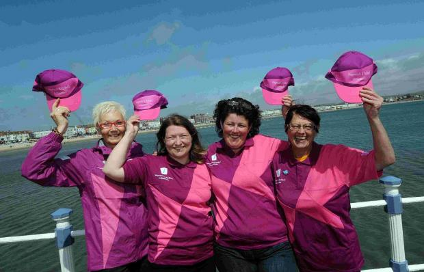 Dorset Echo: Ambassadors: Carole Brackley, Vicky Spence, Claire-Marie Saunders and Sandy West