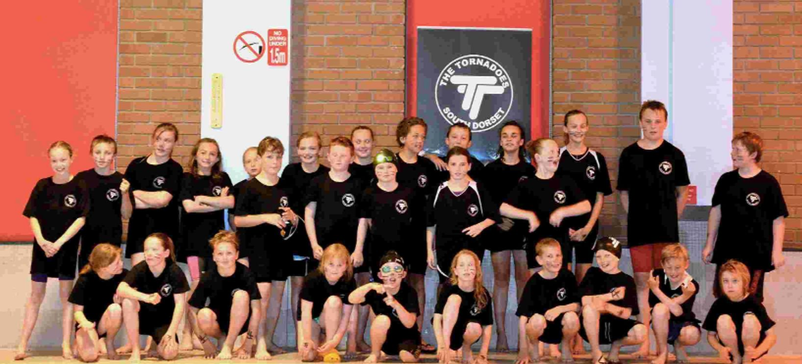 GREAT EFFORT: The Tornadoes of South Dorset at the Southern Junior League gala in Weymouth