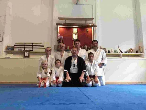 ON THE MAT: Students at the Tanren Dojo on Portland
