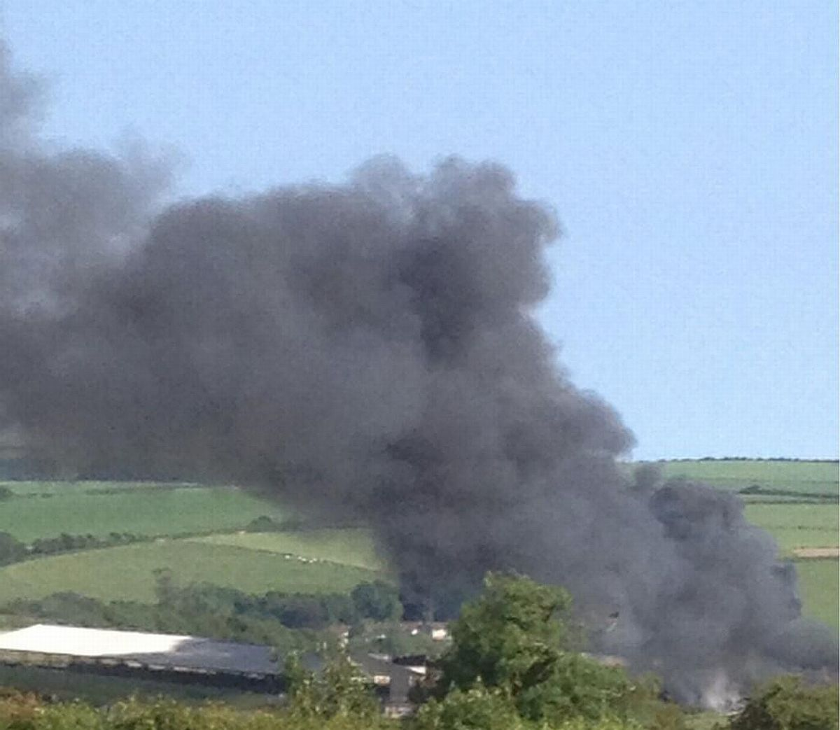 Fire engines called to barn blaze in Martinstown (Photo: Animal Watch)