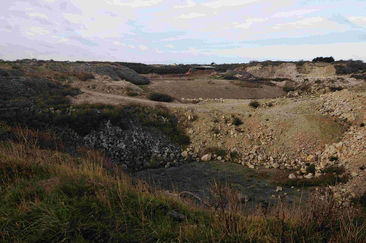 QUARRY SITE: Yeolands Quarry, the proposed site for Jurassica