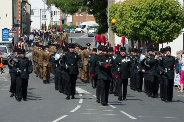Bridport shows support for Rifles regiment