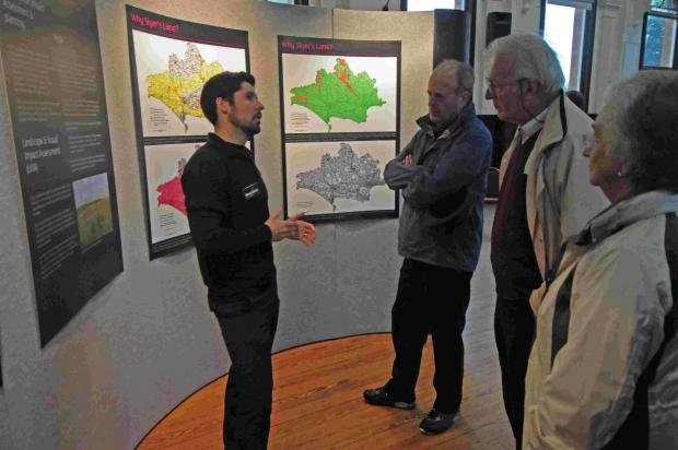 EXPLAINING: Tom Cosgrove from Broadview talks to visitors