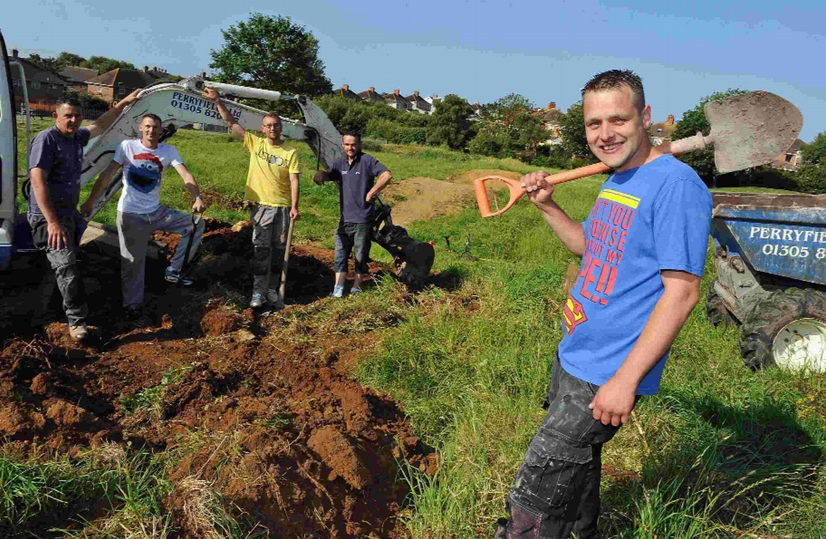 Alan Grubb and friends are helping to revamp the disused BMX track in Wyke Regis