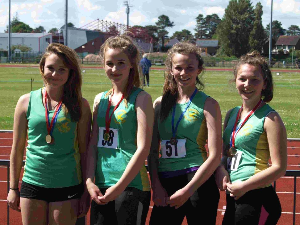 MEDALISTS: Dorset athletes at Kings Park