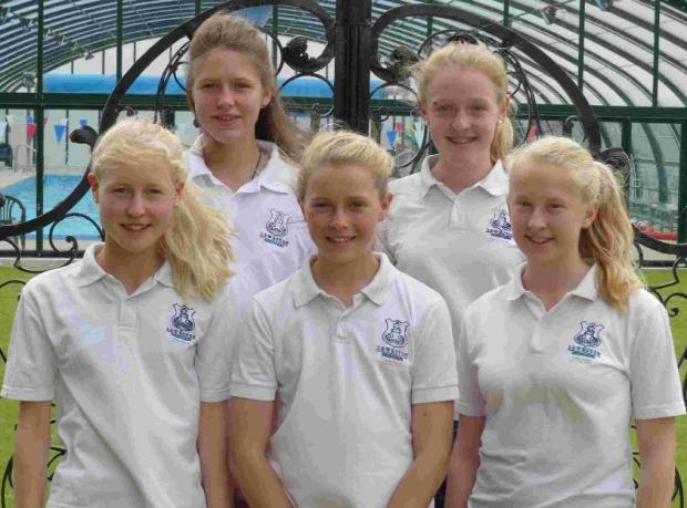 GERMAN QUEST: Leweston School's Daisy Liddle, Olivia Manson, Portia Manson, Elektra Covell and Poppy Boyden