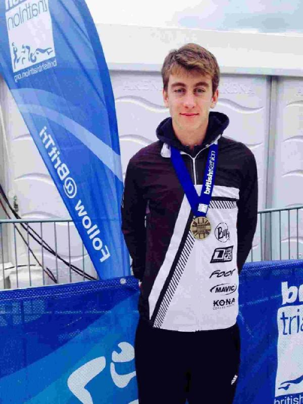RETAINED HIS TITLE: Chris Perham at the National Aquathlon in Hyde Park