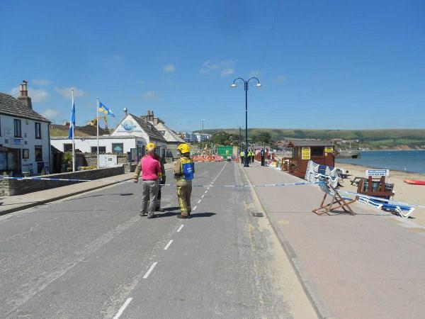 Emergency services dealing with 'incident' in Swanage