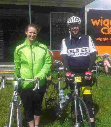 RIDE ON: Pippa Lakin and Peter Cullingham in t