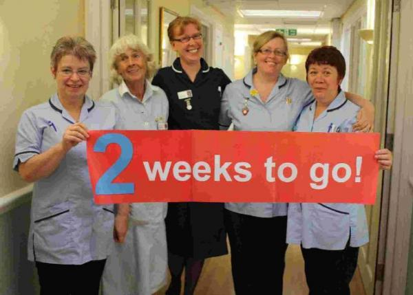 SIGN OF THE TIME: Weldmar nurses look forward to the  Midnight Walk