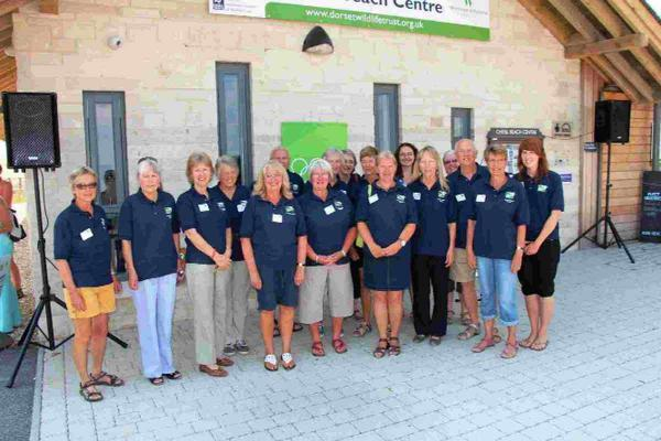 WADING IN: Volunteers at the Chesil Beach Centre