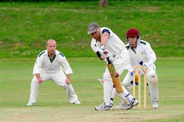 AT THE CREASE: Hugh Rathbone