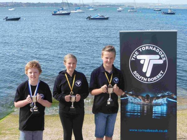 OPEN WATER STARS: Louis King, Alice Thursby and Josh Rowe
