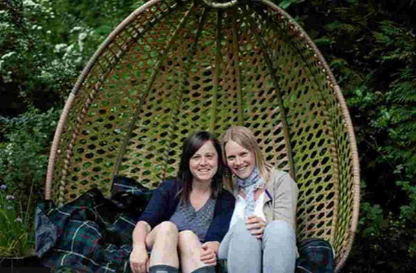 READ ALL ABOUT US: Mums Harriet Merry and Emma White, who have launched their first book, Our Garden Flowers