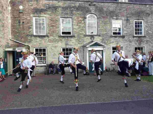 DRIVE TO ATTRACT NEW MEMBERS: Above, The Wessex Morris Men give a good show at the Colliton Club in Dorchester
