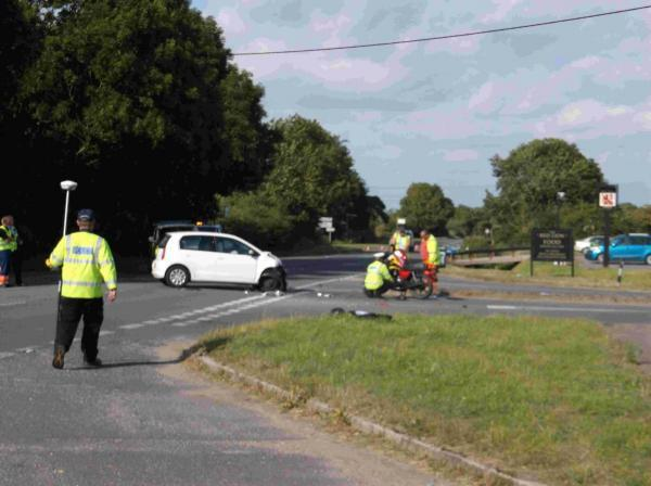 Biker dies in crash near Wool