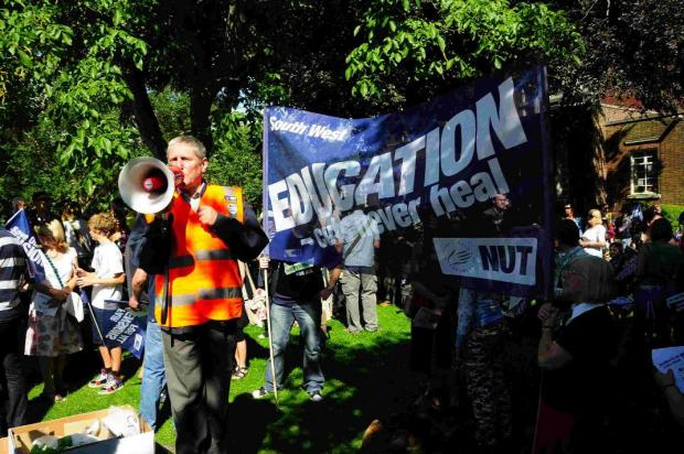 ALL OUT: The public sector unions protest march and meeting in Dorchester in 2011