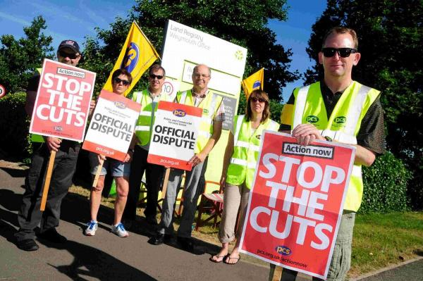 Public sector unions strike over pay and pensions