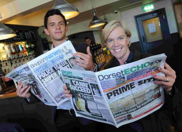 GOOD READ: Broadchurch actors Jonathan Bailey and Carolyn Pickles catch up on the local news