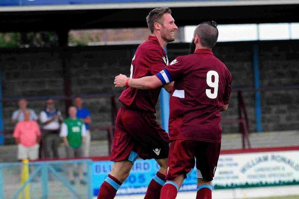 GOAL HUNGRY: Jamie Laird and Stewart Yetton