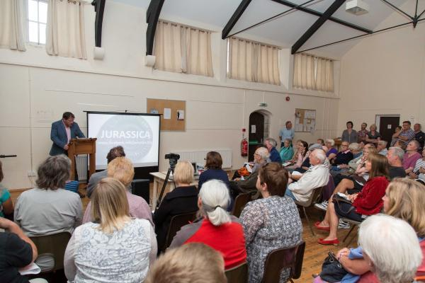 Dorset Echo: Portland residents at the Jurassica community meeting