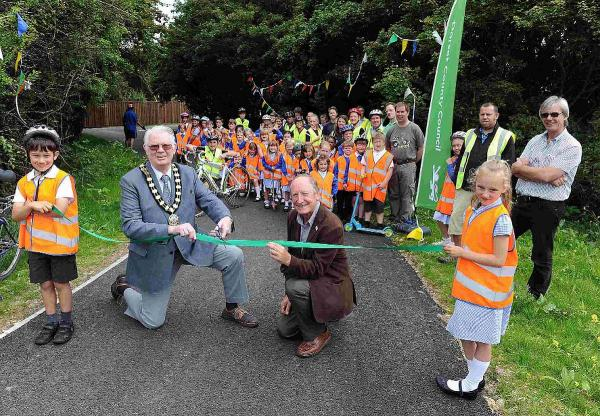 ON TRACK: The launch of the new Weymouth cycle route