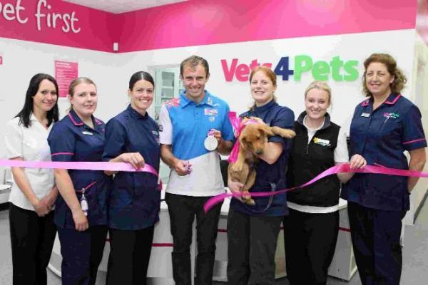 VET'S THE WAY: Olympic Sailor Nick Dempsey opens the new Vets4Pets surgery
