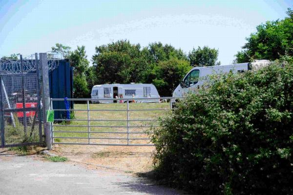 ARRIVALS: First travellers in the transit camp at Piddlehinton