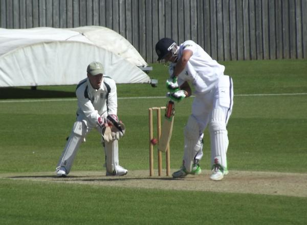 SHARP WORK: Dorset captain Chris Park keeping wicket