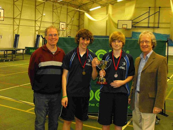 CHAMPIONS: Budmouth A, Brad Burroughs and Ben Graham with Neil Hardisty, left, and Simon Burke