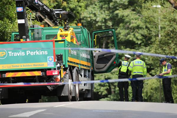 "Man taken to hospital with ""life-threatening injuries"" after arm crushed under lorry"