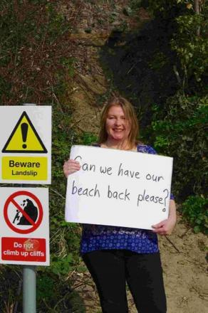 CAMPAIGNING: Locals want access to Castle Cove Beach