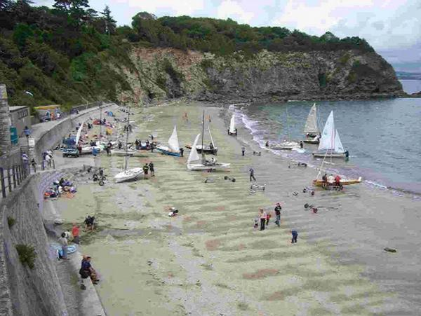 PREPARING TO LAUNCH: The Osprey National Championships at Porthpean in Cornwall