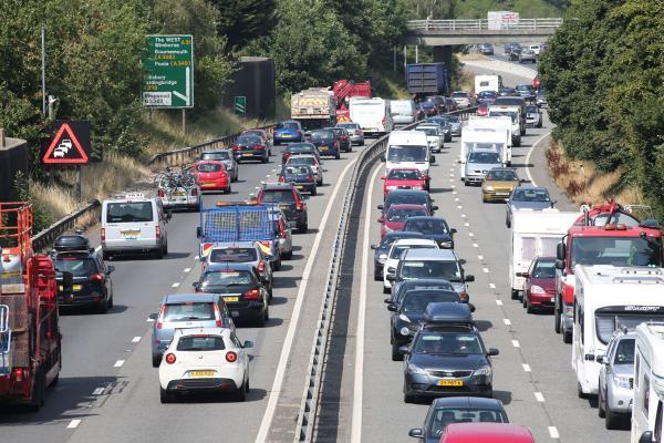 Traffic chaos around Dorset as holidaymakers head home