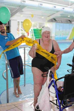 Maley's 90th birthday charity plunge goes swimmingly