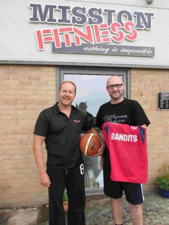 PARTNERSHIP: Weymouth  development officer Alex Fuhrmann, right, with Mark Kinder of Mission Fitness