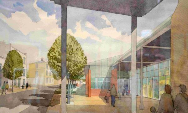 An artist's view of the new school at Poundbury