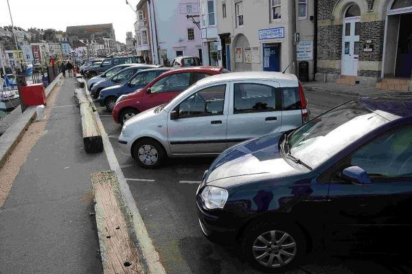 PARKING LOSS: The free parking bays next to the harbour on Custom House Quay are to be temporarily replaced with outdoor seating