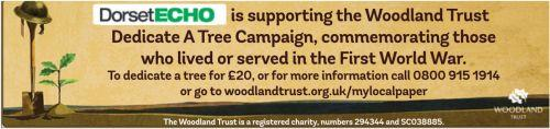 Dorset Echo: woodland trust button
