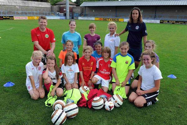 GIRL POWER: Dorchester Town girls' section fun day at the Avenue Stadium