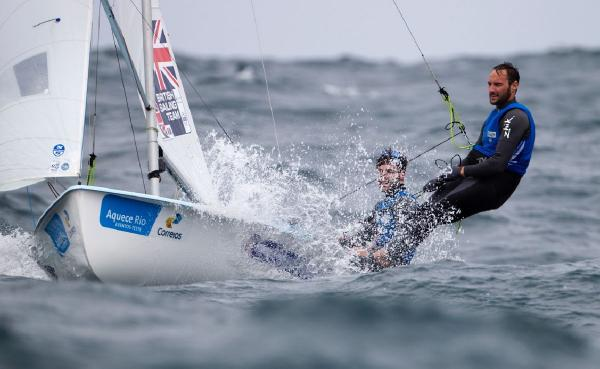 TOUGH TEST: Luke Patience and Elliot Willis in action in the 470 class on day three of the Aquece Rio International Regatta