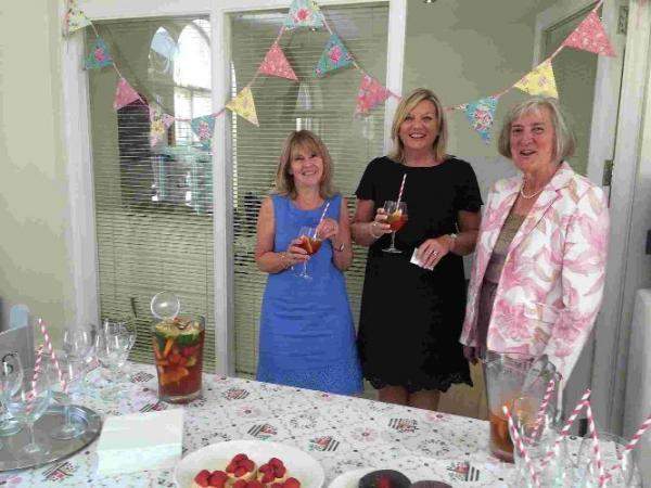 Sue Findlay, Sally Noakes and Hilary Metcalf of C G Fry & Son